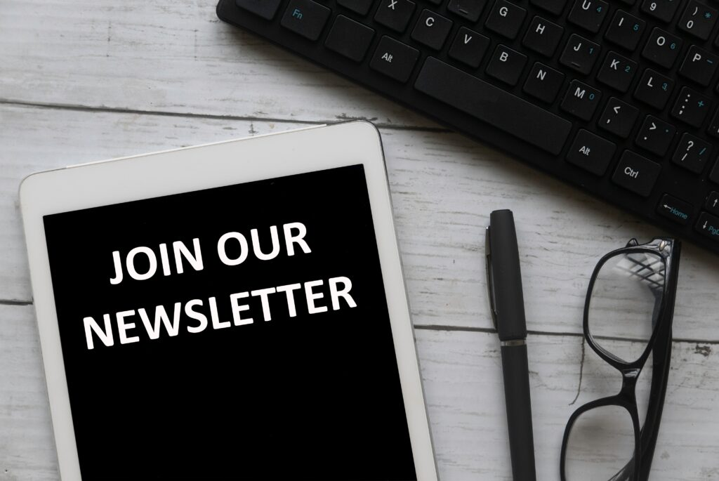 join our newsletter concept APKQKEB